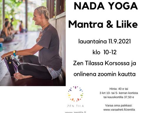 Nada Yoga - Mantra & Liike LAUANTAINA 11.9.2021 KLO 10-12