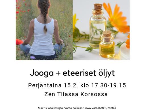 Jooga + eteeriset öljyt perjantaina 15.2. klo 17.30 - 19.15
