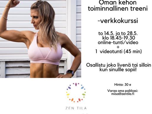 Oman kehon toiminnallinen treeni – verkkokurssi