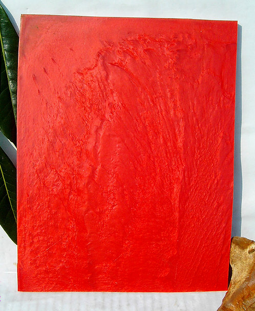 BEAUTIFUL Block of GALALITH Red Marbled