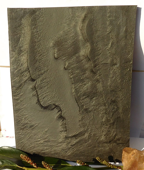 ** BEAUTIFUL Block Old GALALITH ** BRONZE SILVER MARBLED