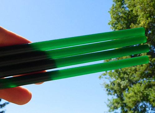 EXCEPTIONAL RODS GREEN Translucent * Lot of 4 items*