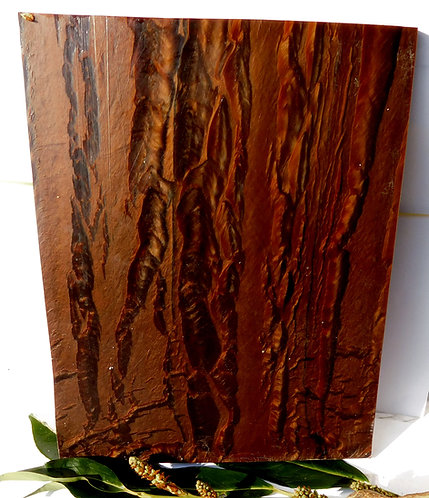 ** BEAUTIFUL Block Old GALALITH ** BROWN MARBLED