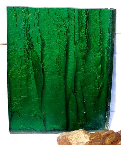 BEAUTIFUL BLOCK DE GALALITH Green Marbled