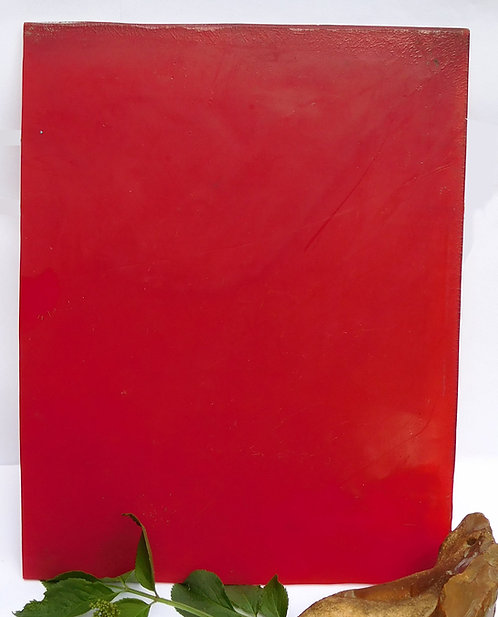 Exceptional Plate  RED Translucent  Thick 5mm  *** RARE***