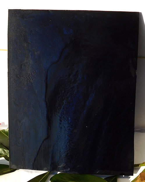 ** BEAUTIFUL Block Old GALALITH ** BLUE NIGHT MARBLED