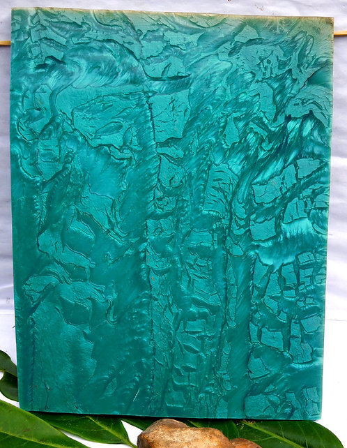 Magnificient Block Of Galalith  TURQUOISE Marbled