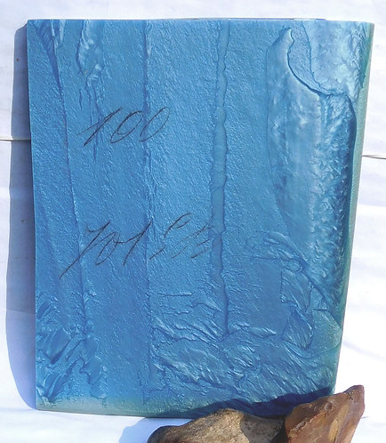 ** BEAUTIFUL Block Old GALALITH ** BLUE SKY MARBLED