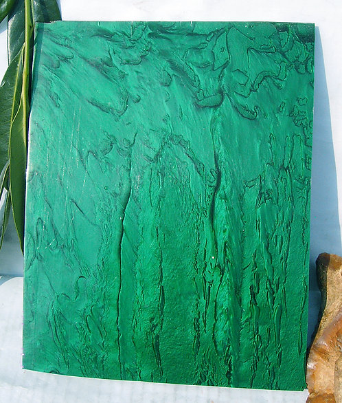 ** BEAUTIFUL Block Old GALALITH ** GREEN EMERALD MARBLED