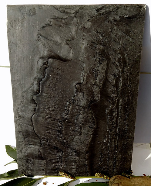 ** BEAUTIFUL Block Old GALALITH ** CHARCOAL GREY MARBLED