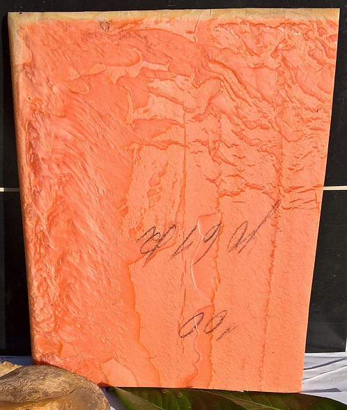** BEAUTIFUL Block Old GALALITH ** PINK SALMON  MARBLED