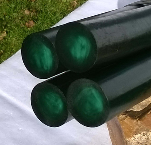 4 Rods  **  GREEN Meleze  **Center Pearl