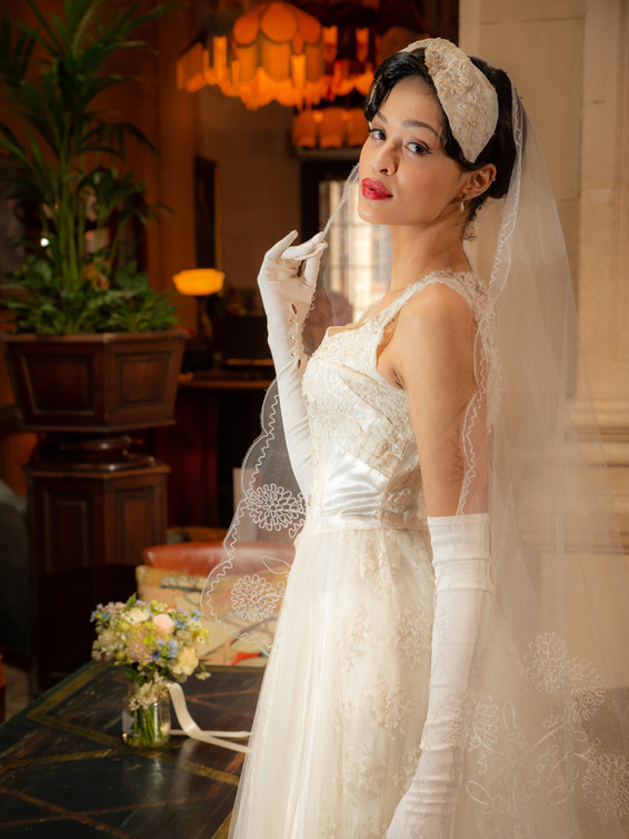 1950s Tulle & Lace Wedding Dress