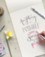 modern calligraphy bristol
