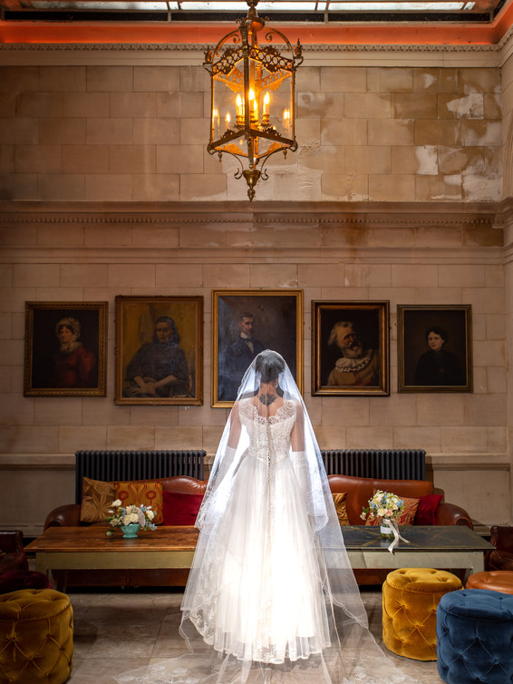 1950s Cathedral Length Veil
