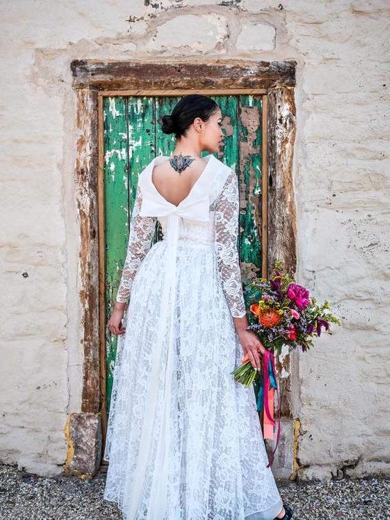 1950s Lace Vintage Wedding Dress