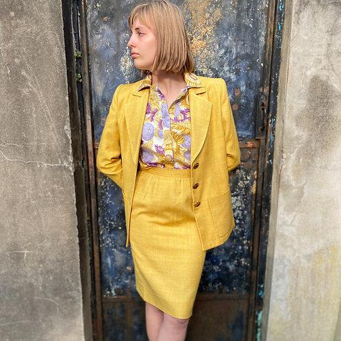 Stunning 1980s Yves Saint Laurent Rive Gauche Suit