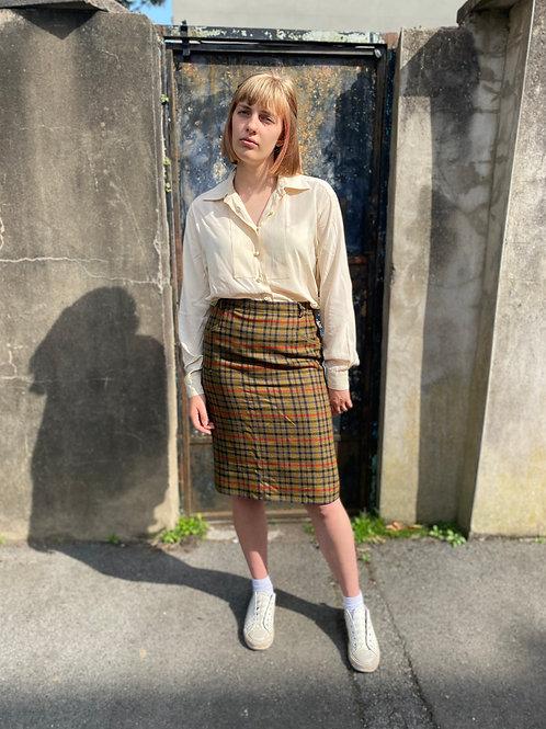 1980s Cream Silk Shirt