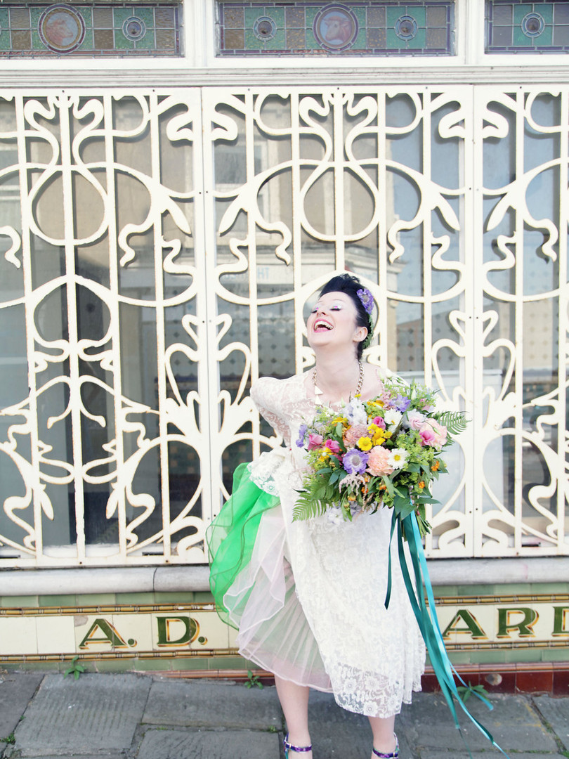 1950s Lace Tea Length Vintage Wedding Dress