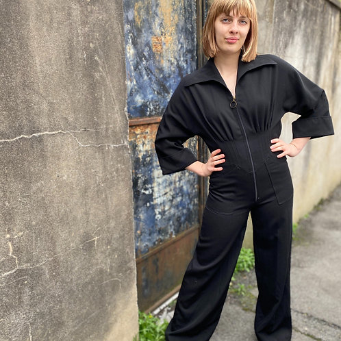 Epic 1970s Cotton Twill Jumpsuit