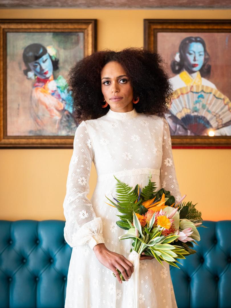 1970s Crochet Vintage Wedding Dress