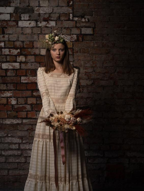 1979 Crochet Vintage Wedding Dress