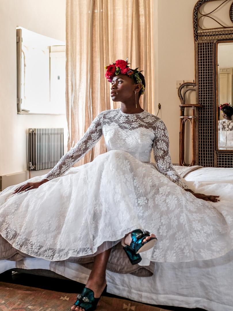 1980s Lace Vintage Wedding Dress