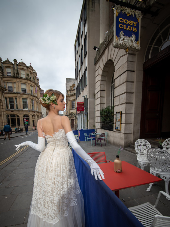 1950s Lace & Tulle Wedding Dress