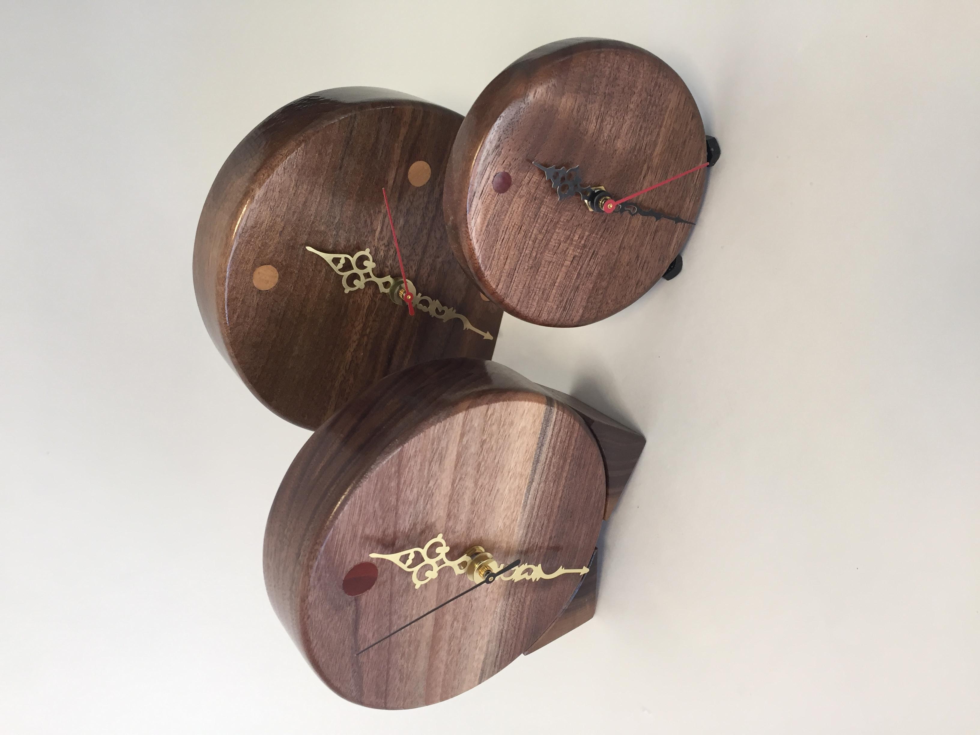 Walnut clocks