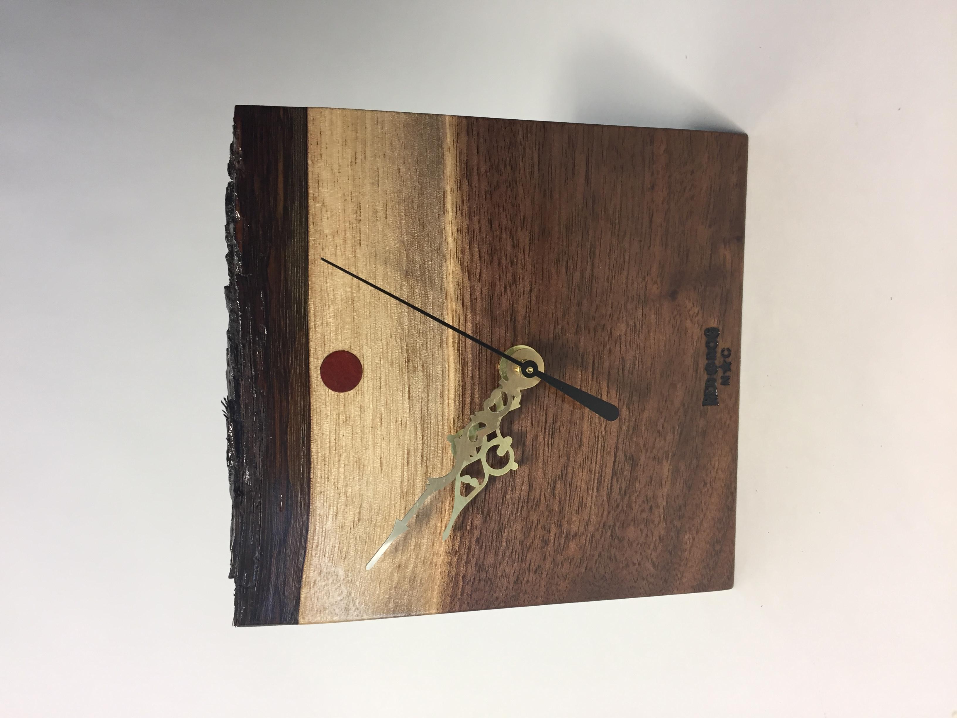 Walnut Clock