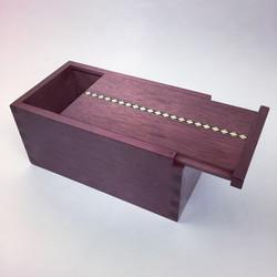 Sliding lid keepsake box