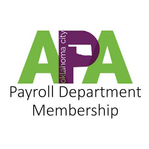Payroll Department Membership