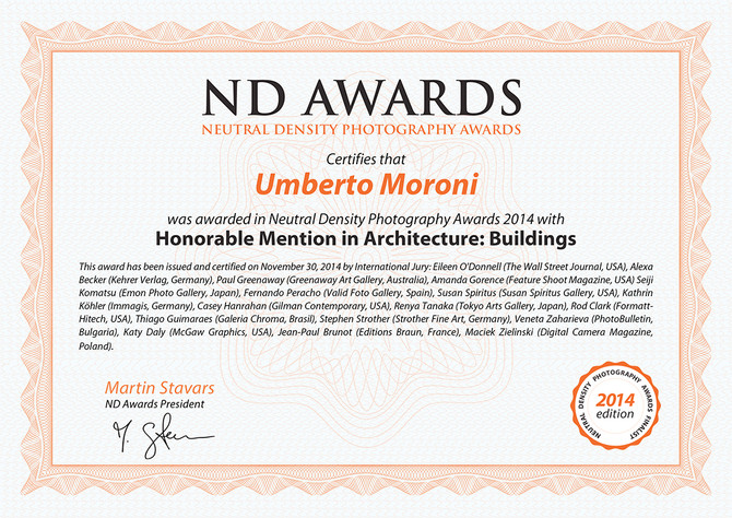 Honorable Mention in Architecture: Buildings