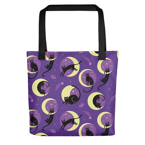 Moonlight Cats Tote bag