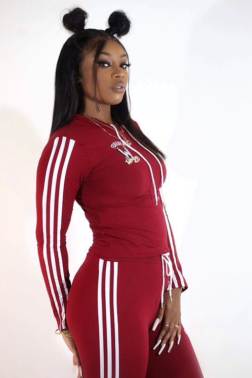 Forever Wrekless Two Piece Set -Burgundy