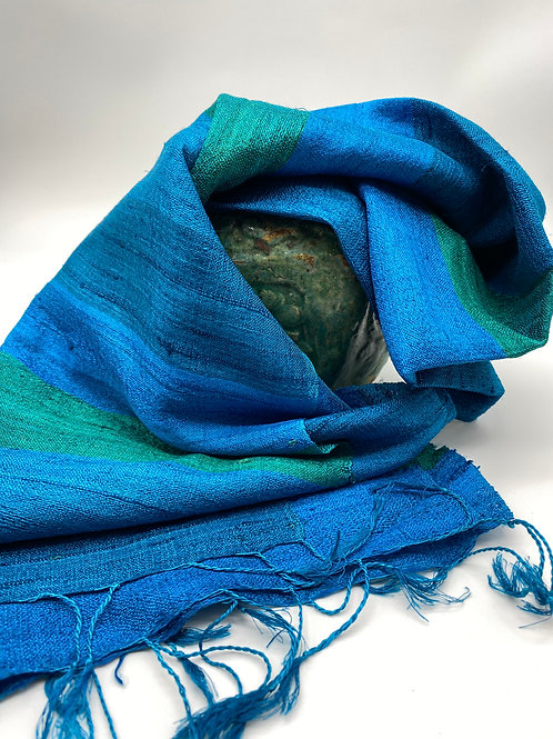 Silk & Linnen  blue