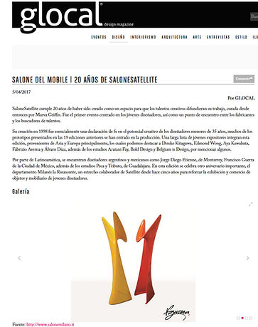 fguerra salone satellite 2017, design by francisco guerra.