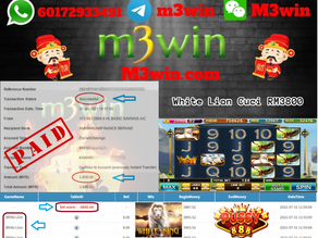 White Lion slot game tips to win RM3800 in Pussy888