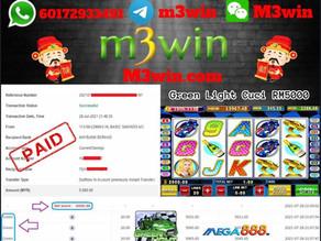 Green Light slot game tips to win RM5000 in Mega888