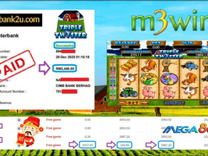 Triple Twister slot game tips to win RM3400 in Mega888