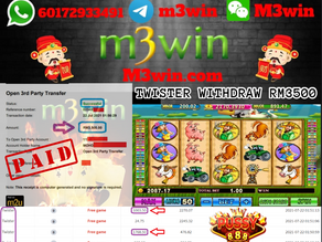 Twister slot game tips to win RM3500 in Pussy888