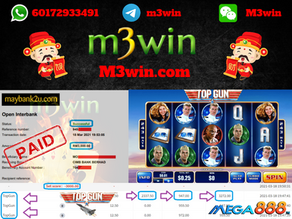 Top Gun slot game tips to win RM3000 in Mega888