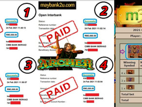 Archer slot game tips to win RM12000 in LPE88