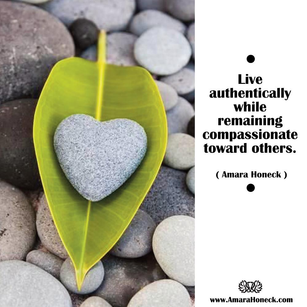 Green Leaf Heart Rock Inside | Spiritual Growth Article | Amara Honeck | Tennessee Shaman Consciousness Exploration Teacher