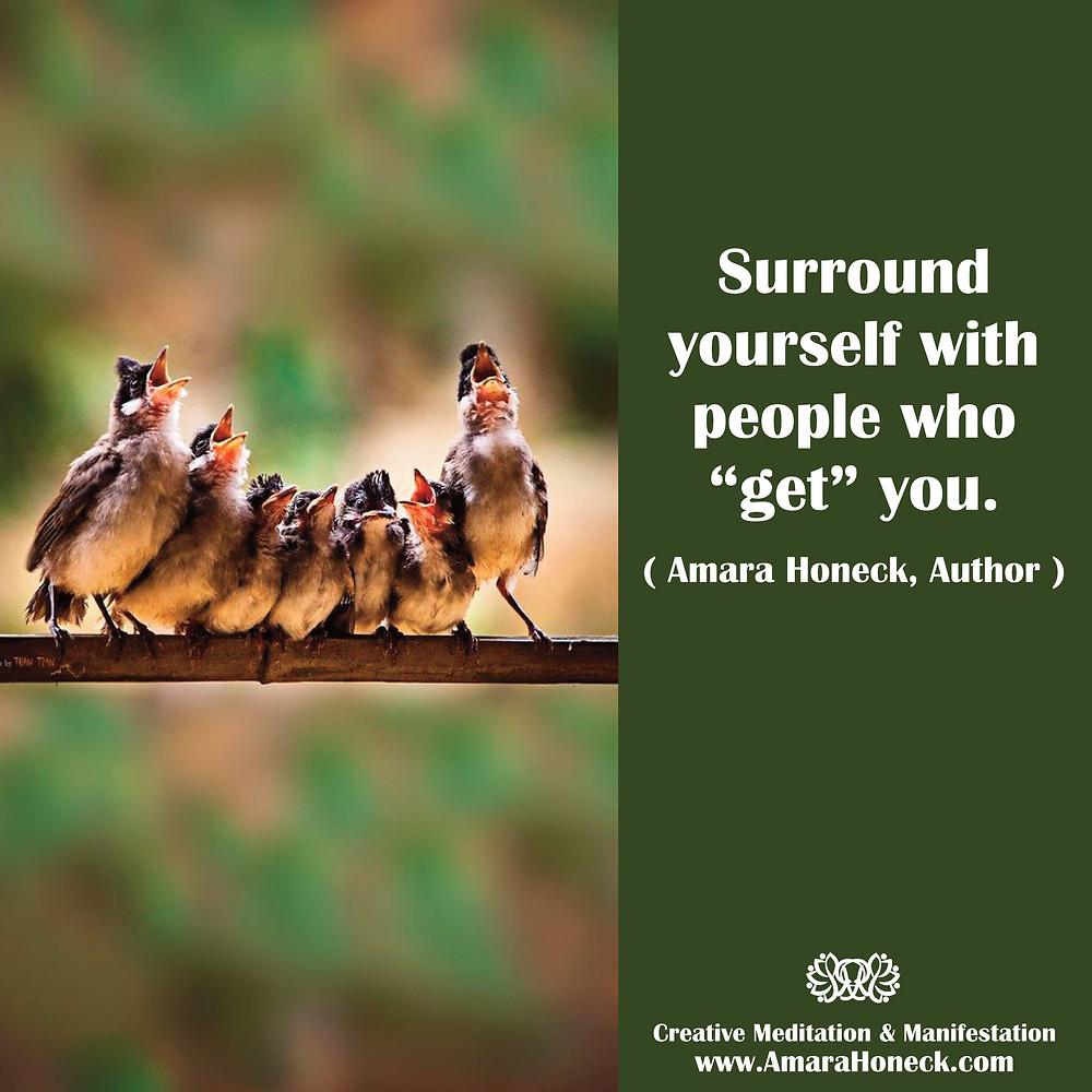 Birds in Lineup Singing | Spiritual Growth Article | Amara Honeck | Tennessee Shaman Consciousness Exploration Teacher