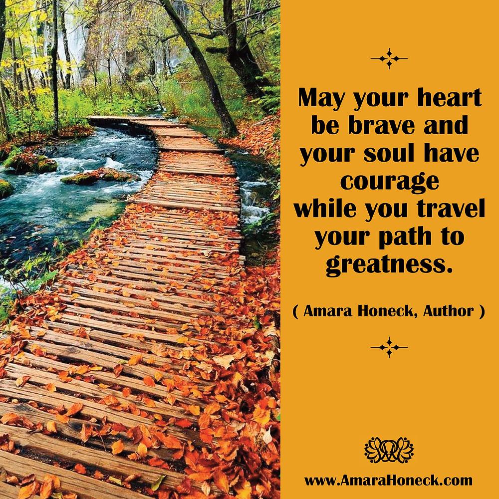 Fall Leaf Boardwalk Over River | Spiritual Growth Article | Amara Honeck | Tennessee Shaman Consciousness Exploration Teacher