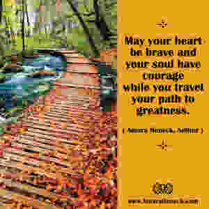 Fall Leaf Boardwalk Over River | Spiritual Growth Article | Amara Honeck | Tennessee Shaman Consciousness Exploration Teacher