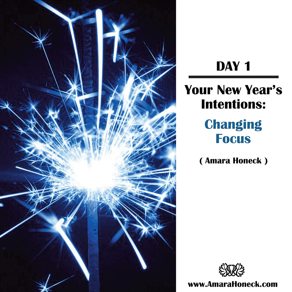 Blue Sparkler | Setting New Year's Resolutions Intentions Article | Amara Honeck | Tennessee Shaman Consciousness Exploration Teacher