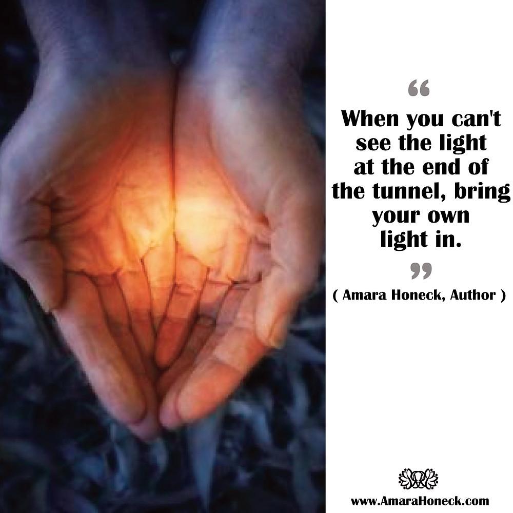 Hands Filled With Light | Spiritual Growth Article | Amara Honeck | Tennessee Shaman Consciousness Exploration Teacher
