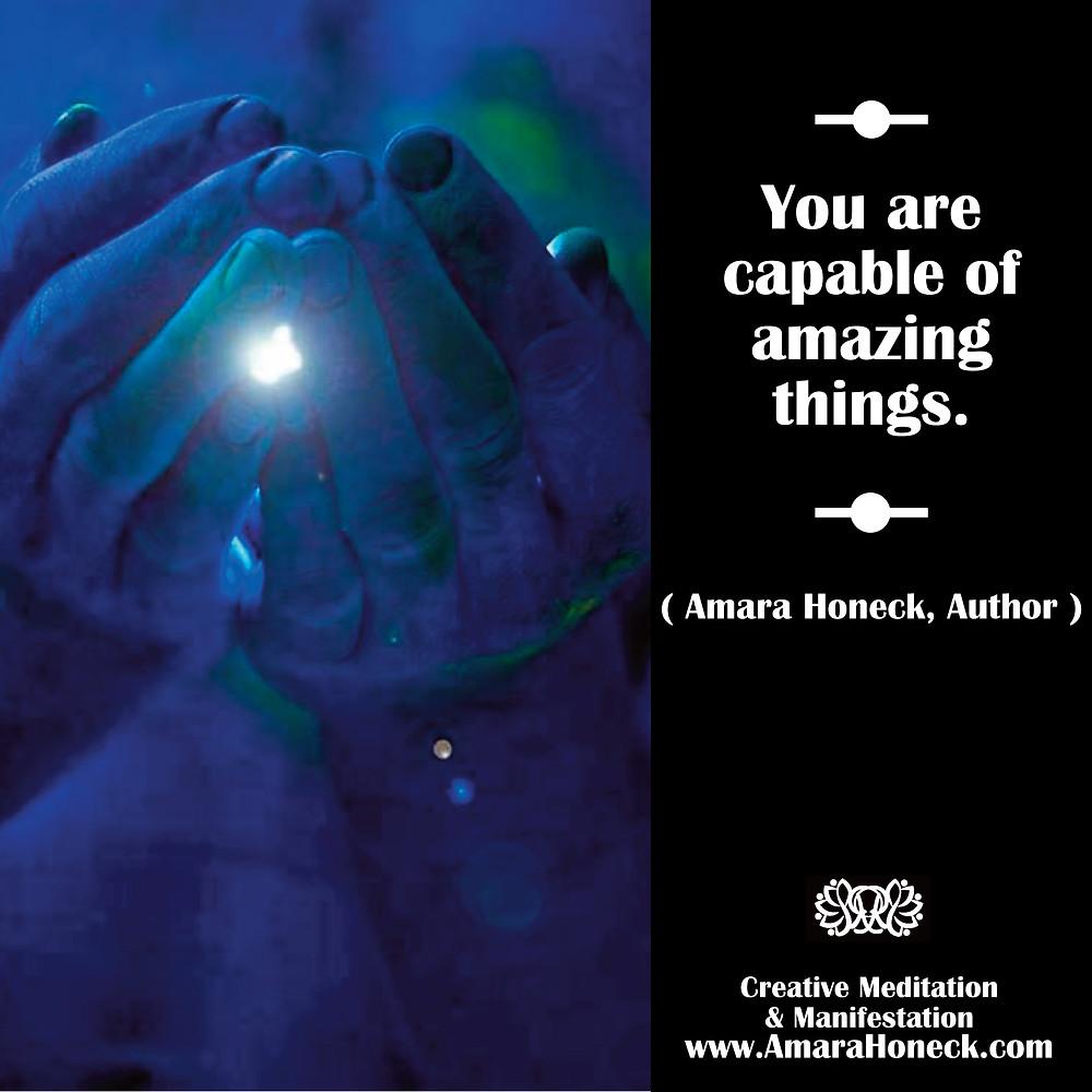 Hands Cupping Light | Spiritual Growth Article | Amara Honeck | Tennessee Shaman Consciousness Exploration Teacher